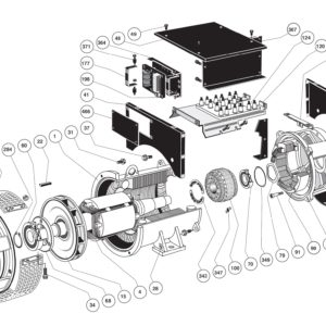 Сборочная диаграмма одноопорного генератора LSA 46.2 IM1001
