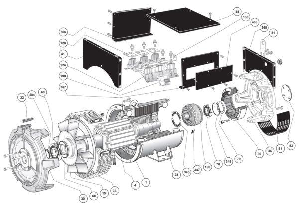Схема запасных частей двухопорного LSA 47.2