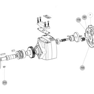 Схема запасных частей редуктора Cb 3021 Cb 3022 Cb 3023 Cb 3024