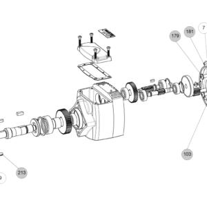 Схема запасных частей редуктора Cb 3031 Cb 3032 Cb 3033 Cb 3034