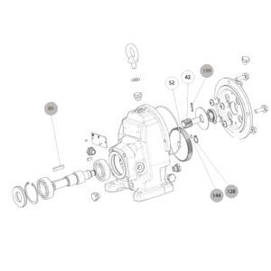 Схема запасных частей входной ступени редукции скорости мотор-редуктора Cb 3131