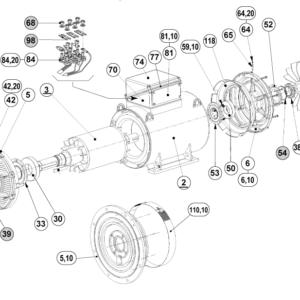 Запасные части асинхронных электродвигателей P/PLS